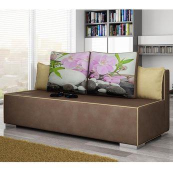 Canapé convertible 2 places en tissu | Sofamobili