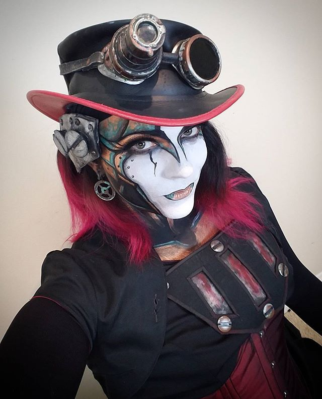 Back to using my own hair and a corset for Rabbit! Hair is pretty long these days! - Isabella Bunny Bennett as Rabbit - SPG Steam Powered Giraffe