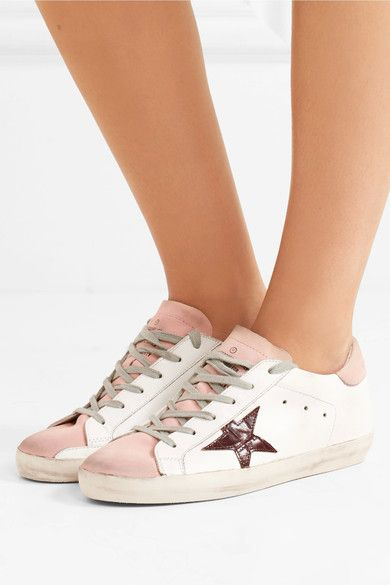 Golden Goose Deluxe Brand - Super Star Leather-trimmed Sneakers - White