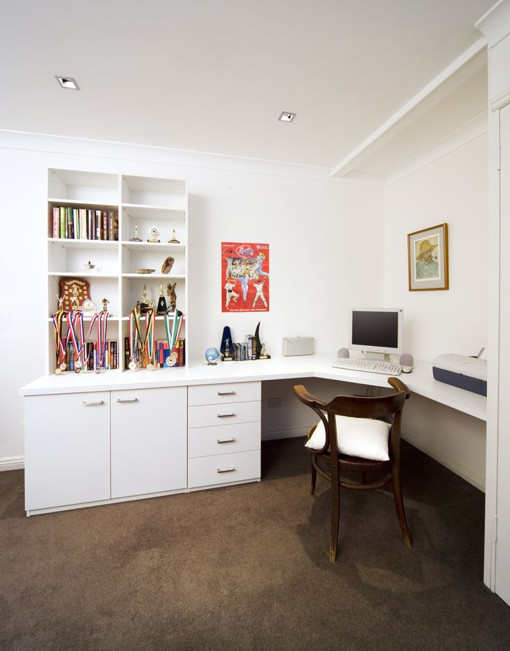 Custom built desk and storage units for your child's room.