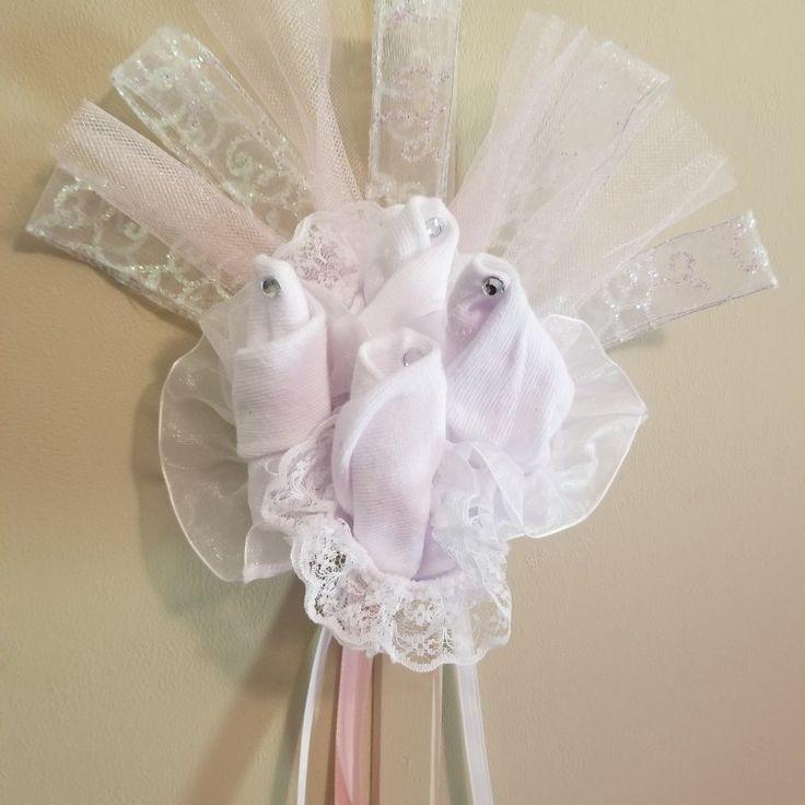 Sock corsage for baby shower #Tutu_Cute_4fun