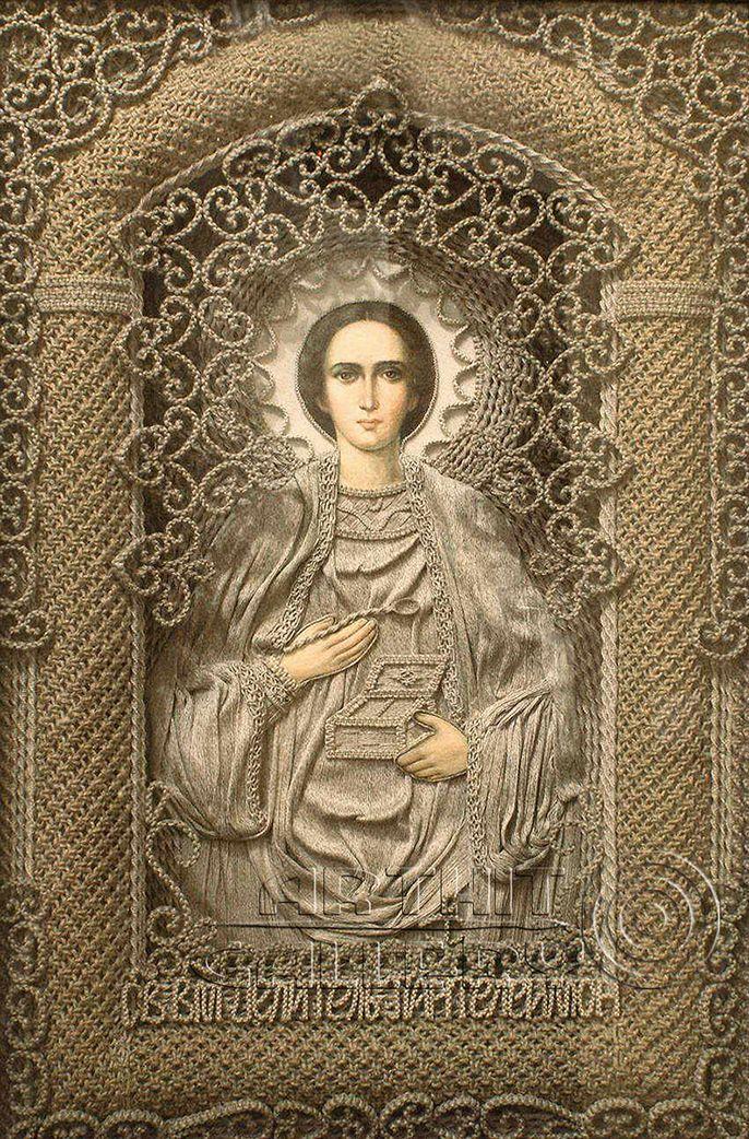 St.Panteleimon ...macrame art 20 l Macrame Art by Vladimir Denshchikov.