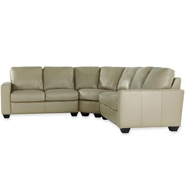 3 pc leather sectional jcpenney home sweet home for Jcpenney sectional sofas