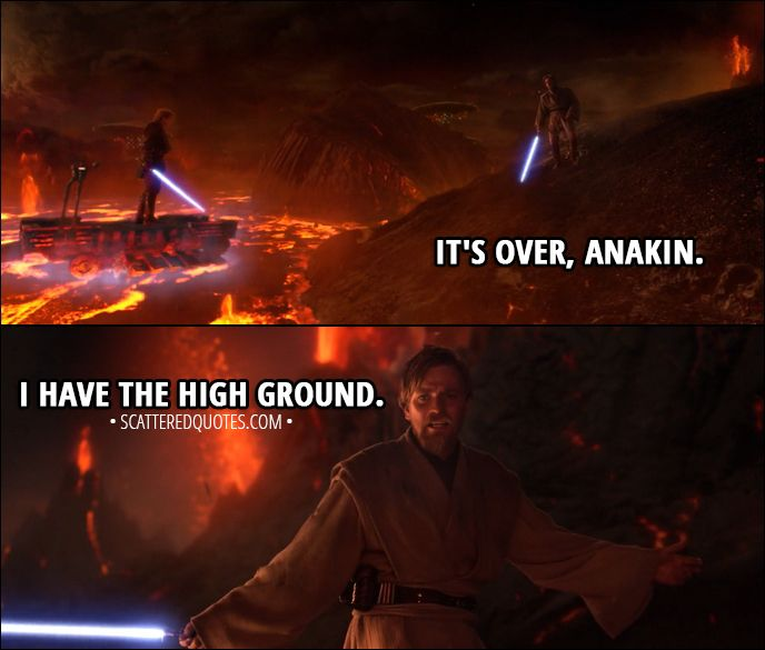 30 Best Star Wars Revenge Of The Sith 2005 Quotes Scattered Quotes Star Wars Quotes Star Wars Star Wars Memes