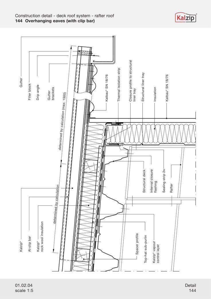 Kalzip Construction Details Archiexpo Construction Detail Detailed Drawings