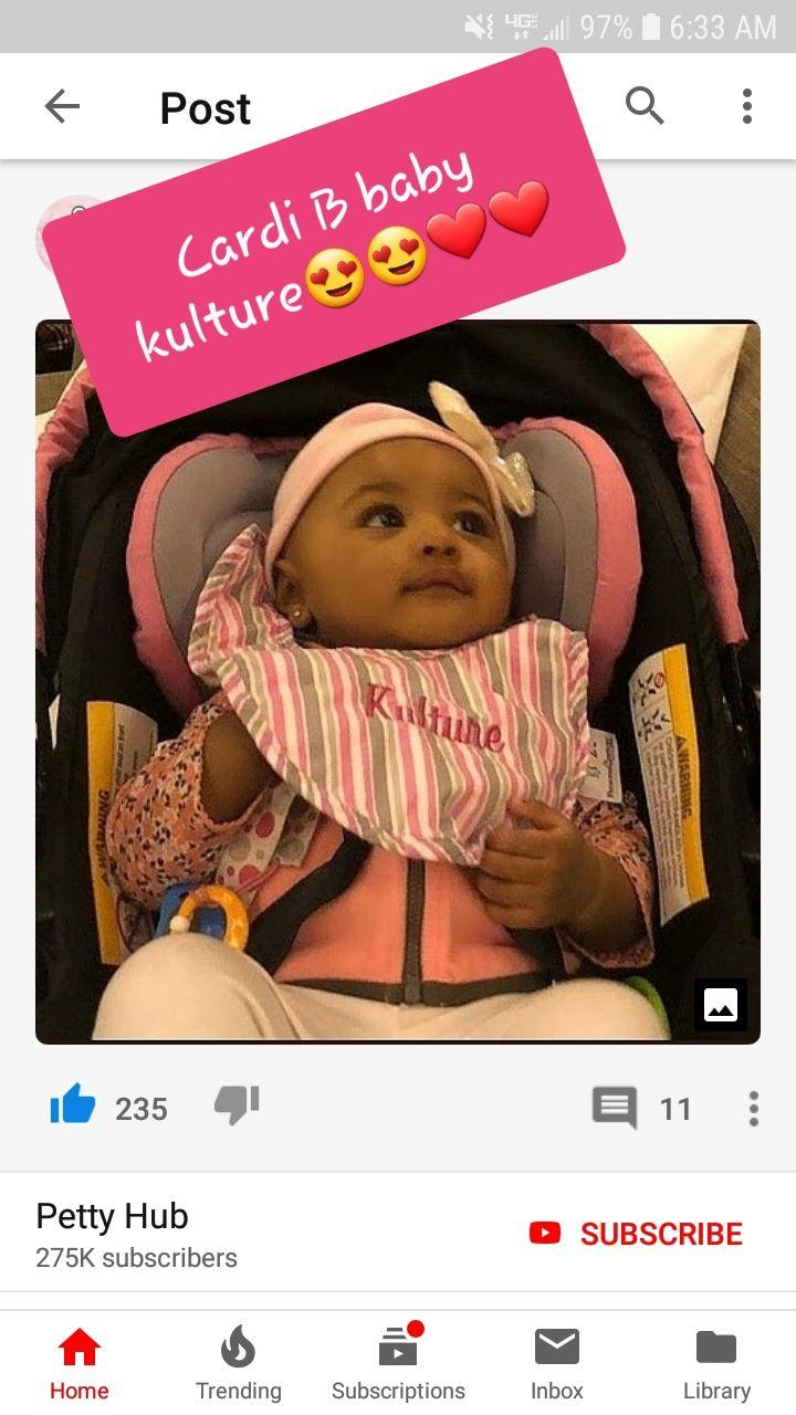 Cardi B S Baby Is Cute Her Name Is Baby Kulture Fav Celeb Babies