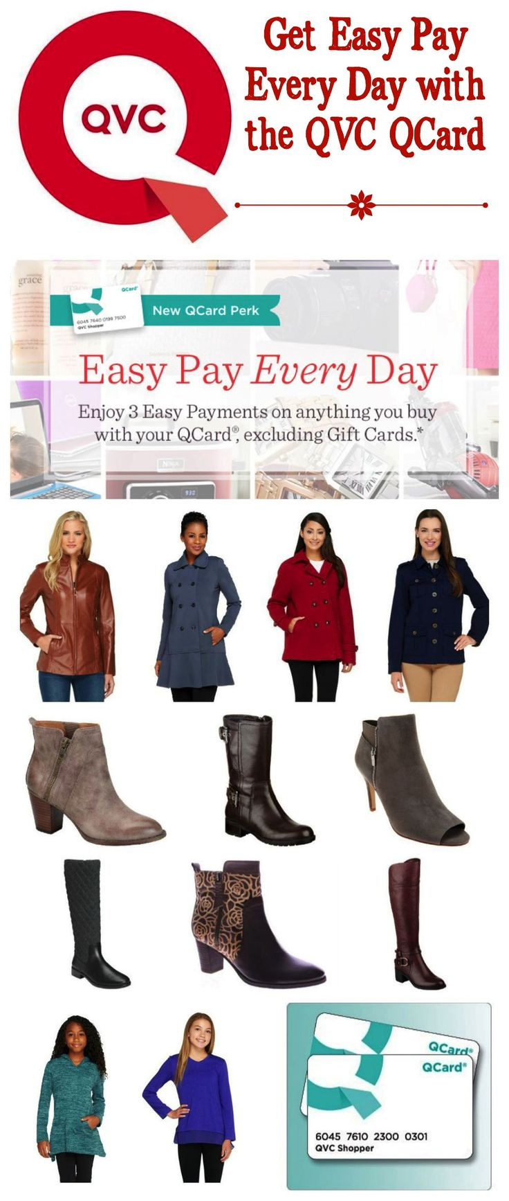 Go Back to School with Easy Pay Every Day with your QCard from QVC #QVC #ad