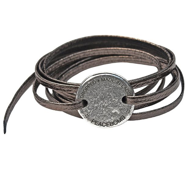 Men's jewelry ideas - Coin Wrap Bracelet Pewter jewelry, pewter, bracelets