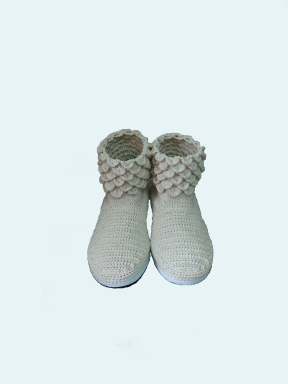 Crochet boots for autumn or spring boots for the by CatanaHandmade