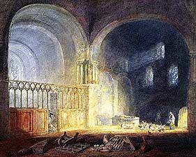 Transept of Ewenny Priory Glamorganshire - Joseph Mallord William Turner, 1775-1851 - OldMastersOnline.com