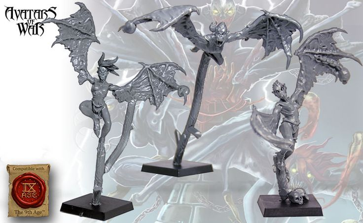 Dread Harpies Available From Avatars of War  Tabletop Encounters