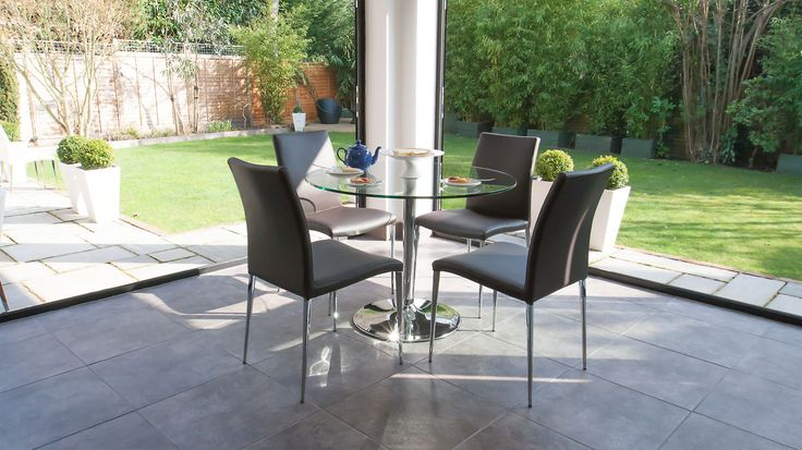 Naro Clear Glass and Elise 4 Seater Dining Set £509.00