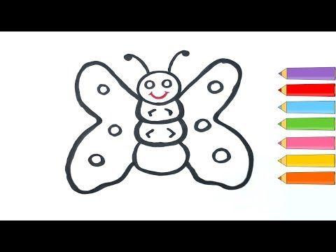 Kolay Kelebek Nasıl çizilir çocuklar Için Oyuncak Kelebek Boyama Ve