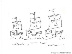 31 Best Columbus Day Coloring Pages Images On Pinterest Christopher Columbus Coloring Page