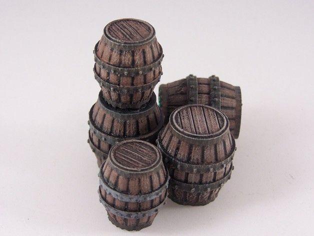 Delving Decor: Medieval Barrels by dutchmogul - Thingiverse