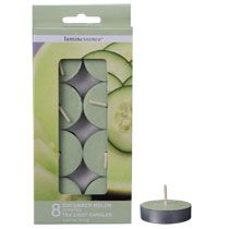 Bulk Luminessence Cucumber Melon Tealight Candles, 8-ct. Packs at DollarTree.com $1