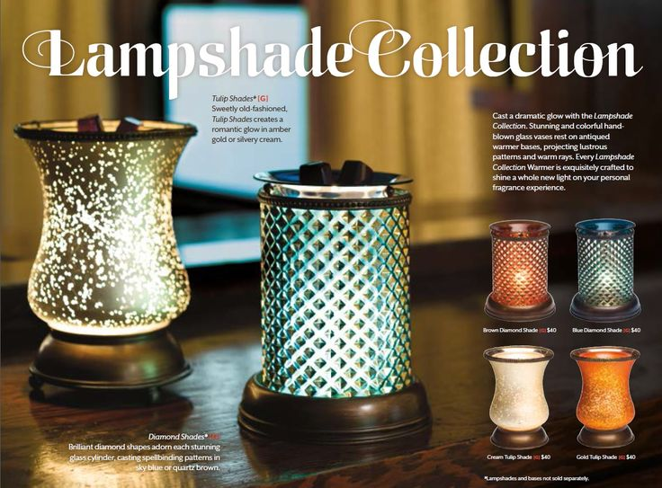 Lampshade Collection - Available Now www.agarrett5.scentsy.us