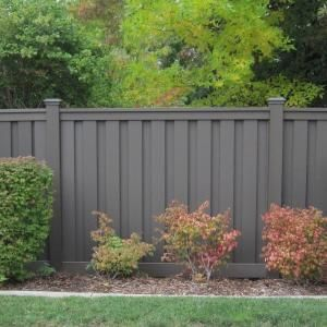 Trex Seclusions 6 ft. x 8 ft. Saddle Brown Wood-Plastic Composite Board-On-Board Privacy Fence Panel Kit SDPFK68 at The Home Depot - Mobile