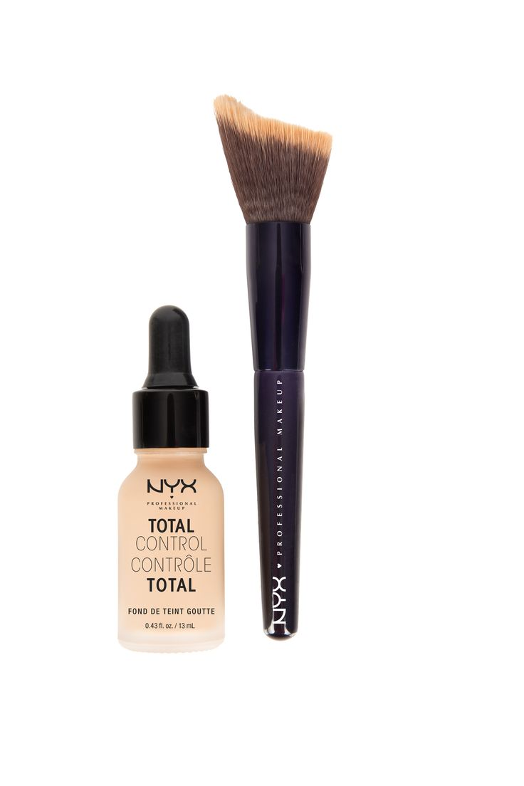 You no longer have to have give up valuable real estate in your makeup bag to a plethora of foundations that vary in coverage. The NYX Total Control Drop Foundation combines all of them into one convenient bottle.
