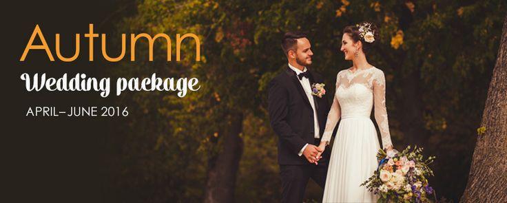 Autumn wedding package 2016