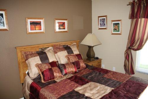 """""""SAFARI BEDROOM"""" with queen bed in Fantasy House Villa: http://www.theluxuryvillasorlando.com/Page_2.php www.facebook.com/FantasyHouseVillaOrlandoFlorida"""