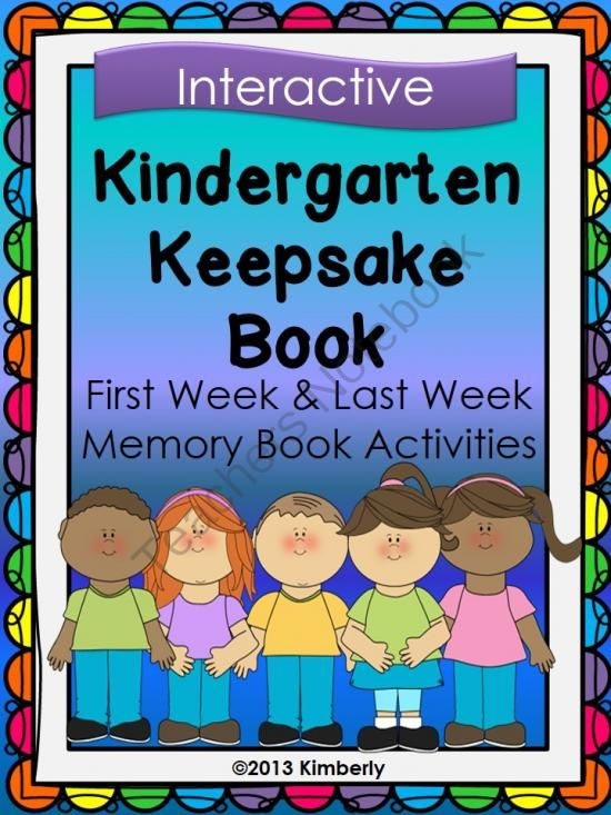 My+Kindergarten+Keepsake+Book+(First+Week-Last+Week+Activities)+from+By+Kimberly+on+TeachersNotebook.com+-++(15+pages)++-+My+Kindergarten+Keepsake+Book+(First+Week-Last+Week+Activities)  This+keepsake+book/project+is+a+wonderful+way+to+start+the+school+year,+as+well+as+finish+out+the+year.+The+book+has+pages+to+be+filled+out+during+the+first+week+of+school+and+then+again+dur