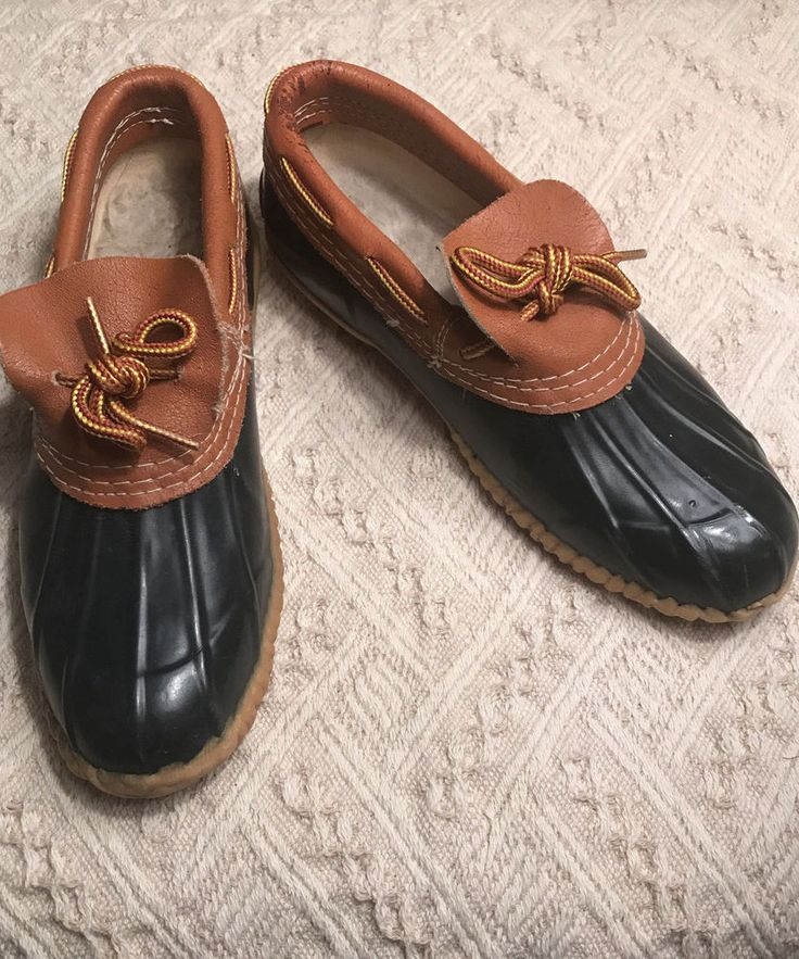 VINTAGE SPORTO RUBBER DUCK SHOES OR BOOTS SIZE 7 BLUE AND TAN #Sporto #Rainbootsshoes