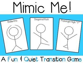 Mimic Me Transition Game