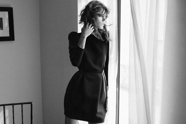 Freja Beha for Zara's fall campaign.