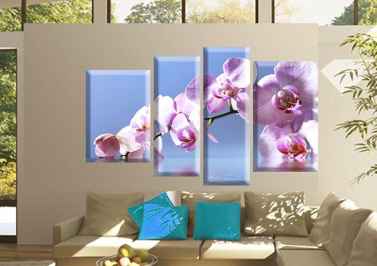 Tablou orchid 6487 Dimensiuni: 1x 35x60 - 1x 35x50 - 1x 25x65 - 1x 25x75 cm Total: 120x75 cm  http://etablou.ro/osc/product_info.php/cPath/53/products_id/661 Telefon : 0755-62.92.37