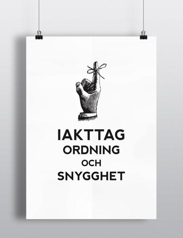 "Quote II  ""Ordning"" by W+M #nordicdesigncollective #nordic #nordicdesign #autumn #backtoschool #backtowork #schoolstart #wplusm #ordning #quote #wisdom #swedish #svenska #poster #print #hand #finger #snygghet #wordsofwisdom"