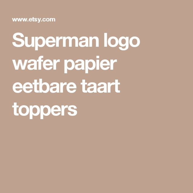 Superman logo wafer papier eetbare taart toppers