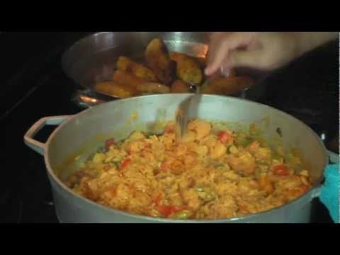 Arroz con camarones (Shrimp & Rice) recipe    Nydia's Miami Kitchen (Youtube)  http://www.youtube.com/watch?v=B5caJSUF1Yc