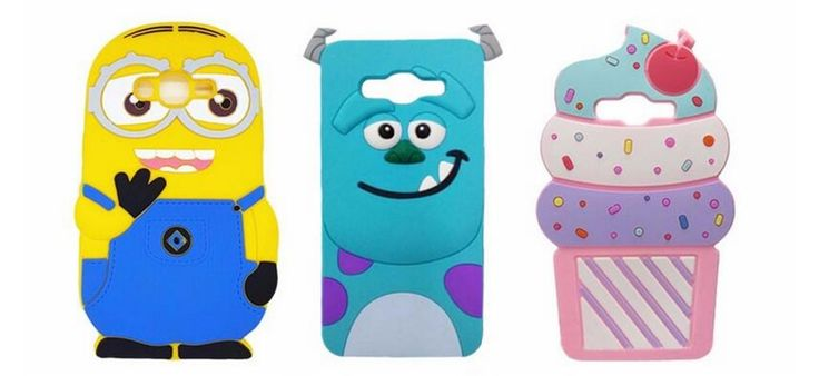 For Samsung Galaxy J2 Prime SM-G532 case 3D Cartoon Cupcake Cat Minions Sulley Silicone Back Cover Cases For Grand Prime Plus