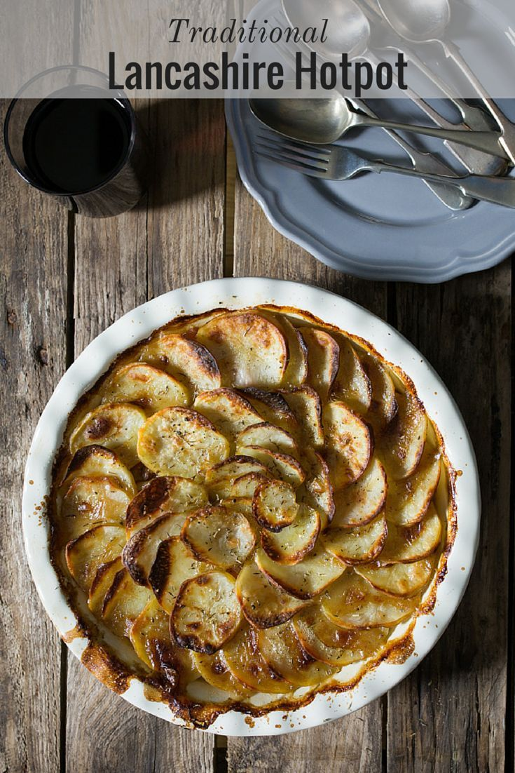 Lancashire Hotpot - Succulent lamb in a meaty gravy, topped with potatoes that are tender underneath and crisp on top.