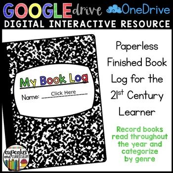 Digital Book Log - Students can record their finished books and categorize them in up to 17 different genres!  WHY PAPERLESS BOOK LOGS?  They don't get lost.  They don't get ripped.  They can be filled out from school or home - AND - they can be checked by YOU.  Anytime.  From Anywhere!