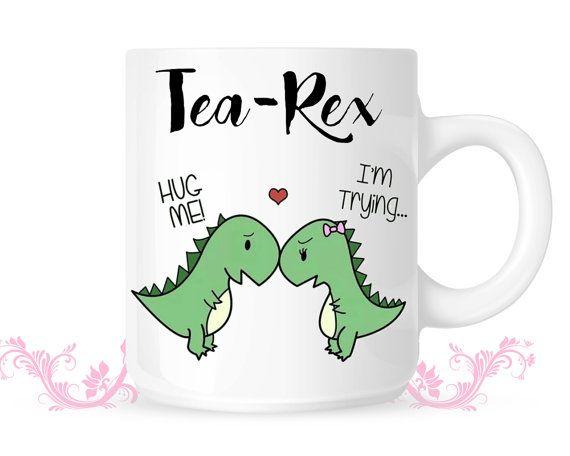 Tea Rex Mug T-rex mug T Rex Love Mug by CuteCoffee on Etsy
