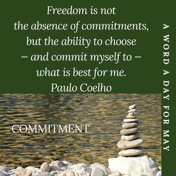 #AWordADayForMayChallenge May 15th #Commitment