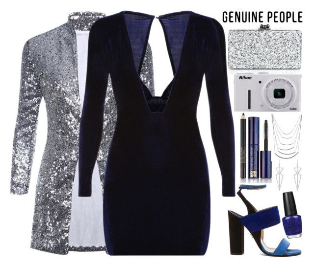 """""""GENUINE-PEOPLE NYE"""" by queen-laureen ❤ liked on Polyvore featuring Paul Andrew, Edie Parker, Nikon, OPI and Estée Lauder"""