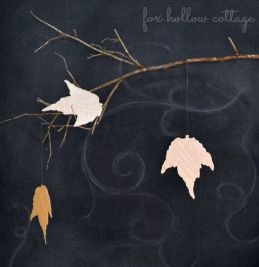 How To Make Fall Leaves with Burlap and Paper Sacks - Fox Hollow Cottage
