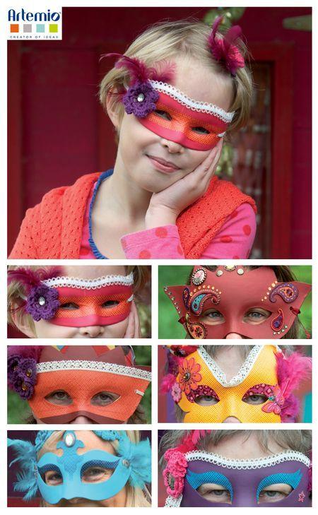 Des masques colorés pour le carnaval