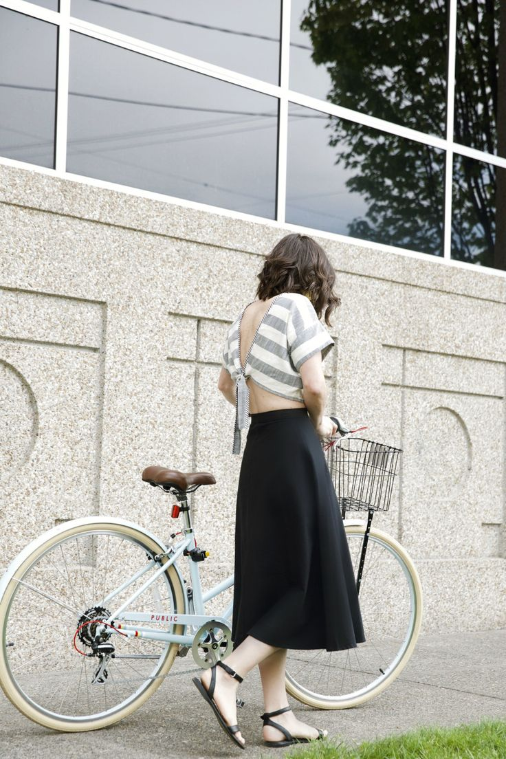 My latest project with Clementine Daily and Zappos, featuring the Stephane sandal and a borrowed bike!