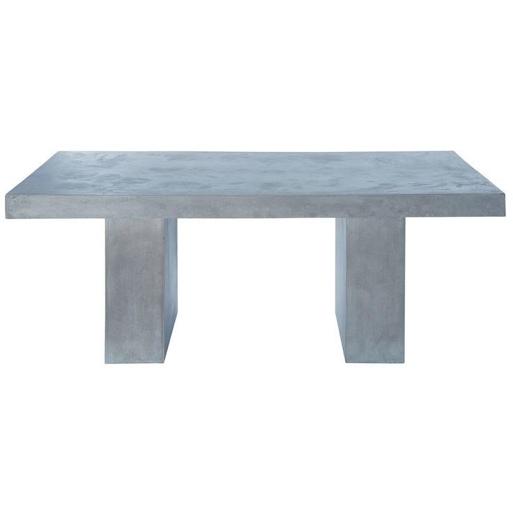 Tavolo grigio chiaro in magnesia effetto cemento L 200 cm Mineral | Maisons du Monde