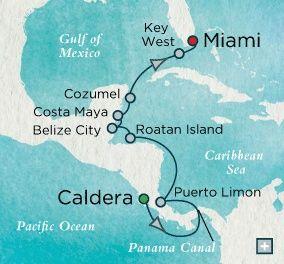 11 nights departing November 30, 2014 on Crystal's Crystal Serenity Single Occupancy rate $4170  Nov 30 Puerto Caldera, Costa Rica     Dec 1 At Sea     Dec 2 Panama Canal (Full Transit) (Cruising)     Dec 3 Puerto Limon, Costa Rica    Dec 4 At Sea     Dec 5 Roatan, Honduras    Dec 6 Belize City, Belize    Dec 7 Costa Maya, Mexico    Dec 8 Cozumel, Mexico    Dec 9 At Sea     Dec 10 Key West, FL    Dec 11 Miami, FL   For Details Contact  taylormadetravel142@gmail.com  call 828-475-6227