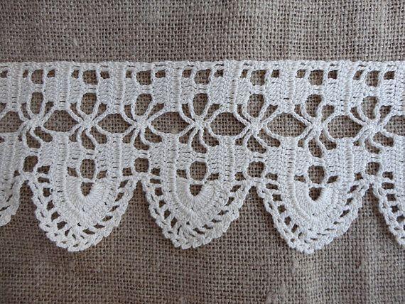 Vintage Crochet Lace Handmade Three Yard Length by JunqueSeeker