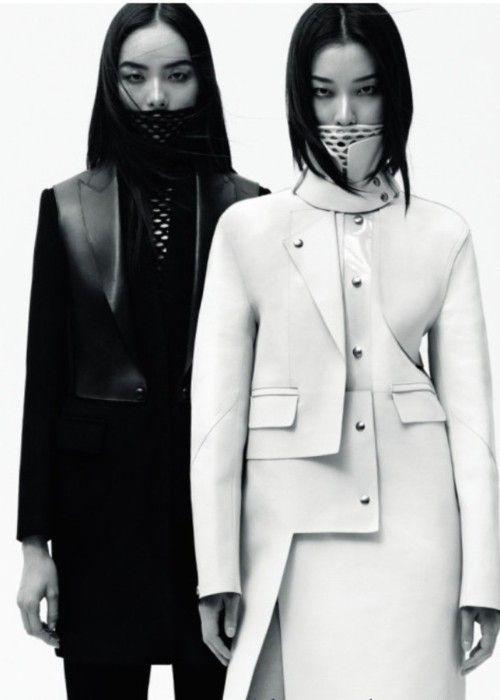 future fashion, futuristic girl, asian girl, black and white, model, fashion girl, japan girl, china girl, korean girl, eyes, black hair by FuturisticNews.com
