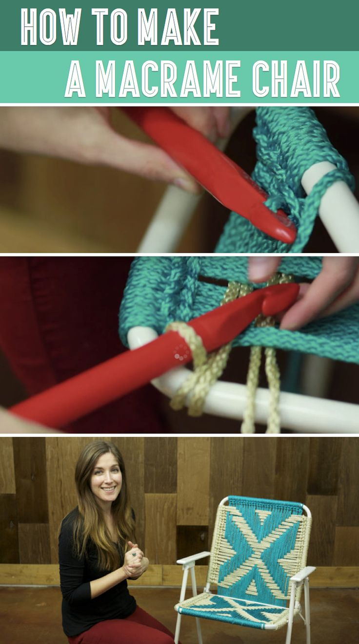 Transform Old Lawn Chairs Into Brand New DIY Macrame Seats