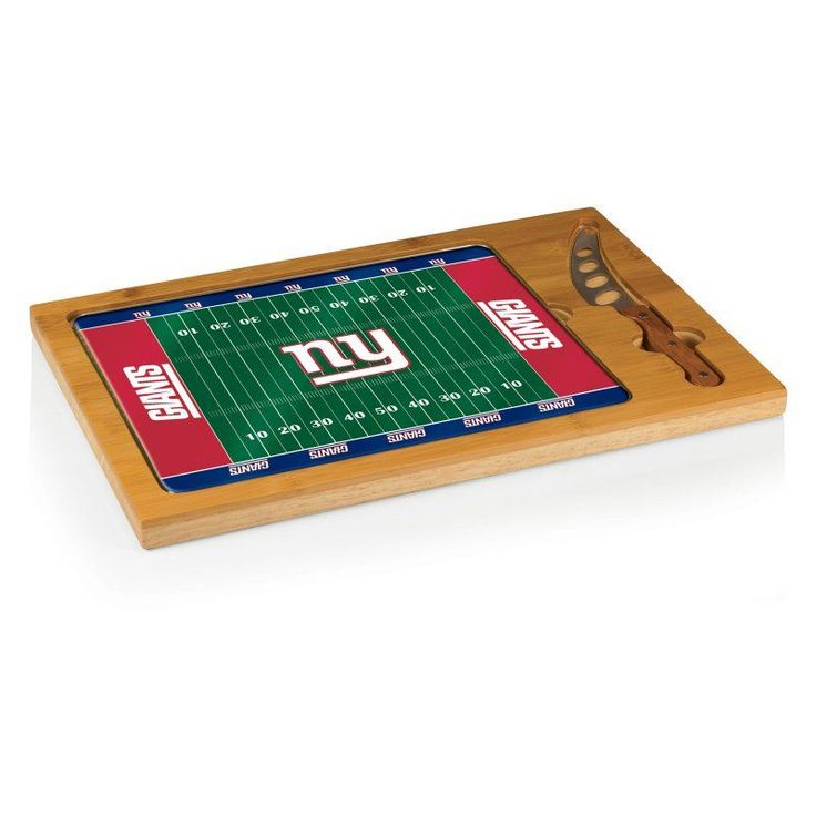 Picnic Time NFL Icon Glass Top Serving Tray and Knife Set - 910-00-505-214-2