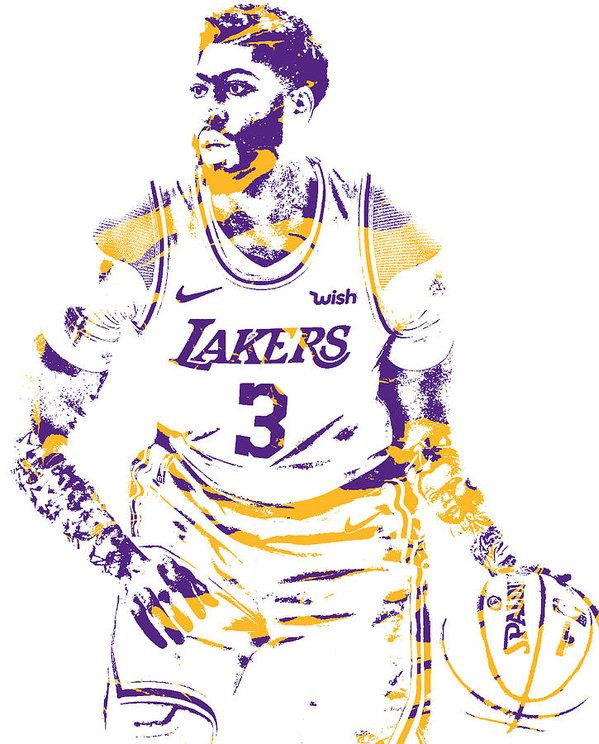 Anthony Davis Los Angeles Lakers Pixel Art 1 Art Print By Joe Hamilton In 2021 Anthony Davis Los Angeles Lakers Joe Hamilton