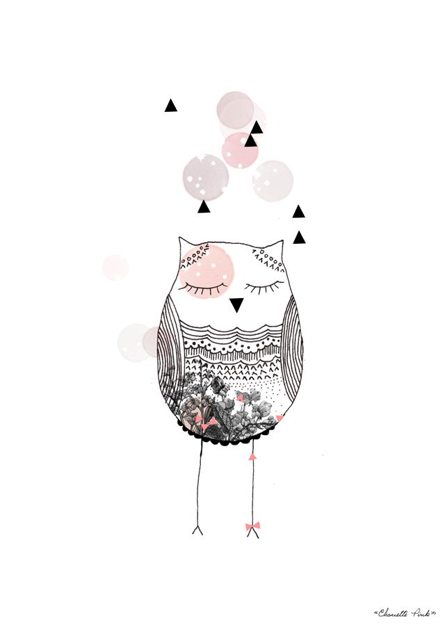 LOVE THIS! 'Chouette Pink' by My Lovely Thing #illustration